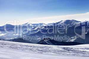Ski slope in morning