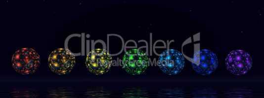 Chakra spheres - 3D render