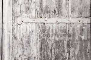 Texture Of A Weathered Wooden Window Shutter