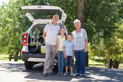 Grandparents going on road trip with grandchildren