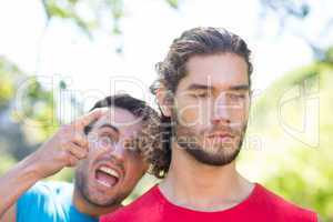 Tough trainer shouting at his client
