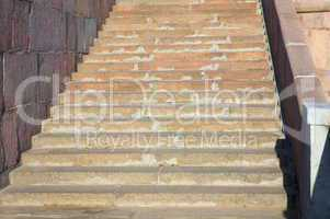 marble stairs on quay