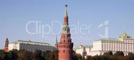 Kremlin tower on sky background
