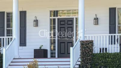 Panning Sold Home For Sale Real Estate Sign and House