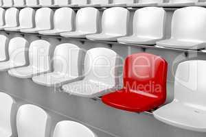 Unique red seat
