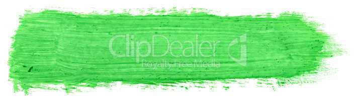 green stroke of gouache
