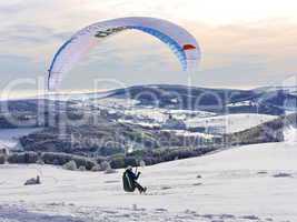 Paragliding und Snowkiting Wasserkuppe-Rhön