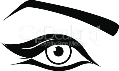 Eye silhouette close-up