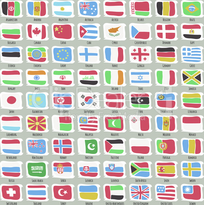Set of Flags of World States