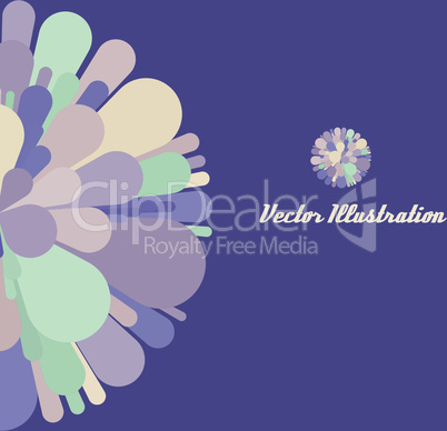 Abstract geometrical 3d background. Colorful fireworks. Wallpaper, web banner or design element. With place for text.