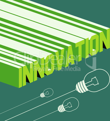 Innovation word. Abstract background with 3D-effect. Vector file.