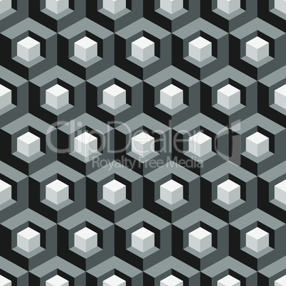 Honeycomb background 3d. Mosaic. Vector illustration. Seamless pattern.