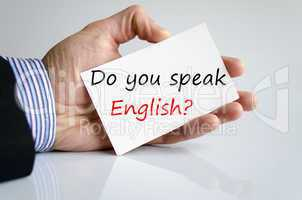 Do You speak English??