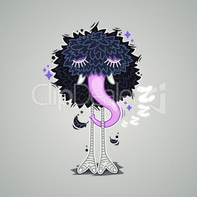 Hibernating Cartoon Monster