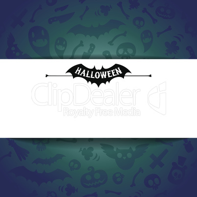 White Paper Sheet on Dark Halloween Background