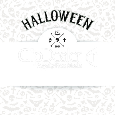 White Paper Sheet on Light Halloween Background