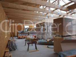 Dachausbau eines Hauses