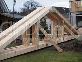 Dachstuhl zum Aufbau