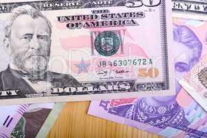 european money and american dollars