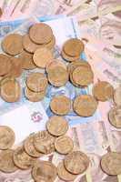 european money, ukrainian hryvnia