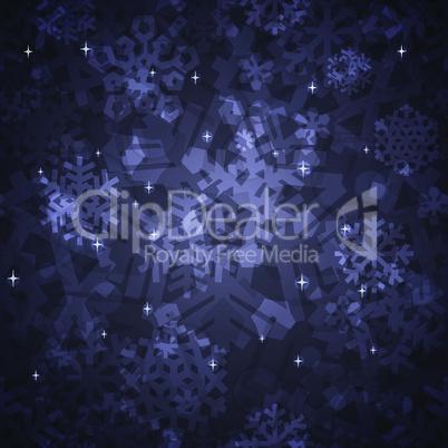Shiny Dark Snowflakes Seamless Pattern for Christmas Desing