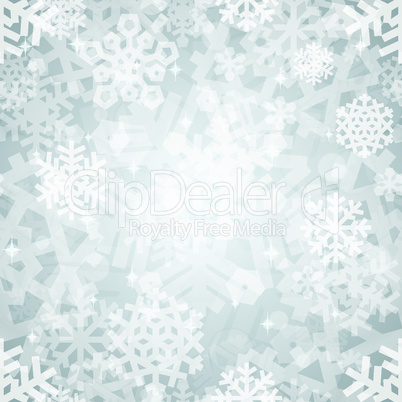 Shiny Silver Light Snowflakes Seamless Pattern for Christmas Desing