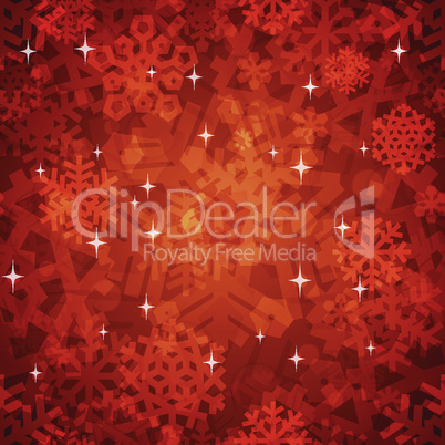 Shiny Red Snowflakes Seamless Pattern for Christmas Desing