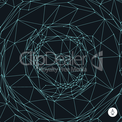 Network background. 3d technology vector illustration. Can be used for wallpaper, web page background, web banners.