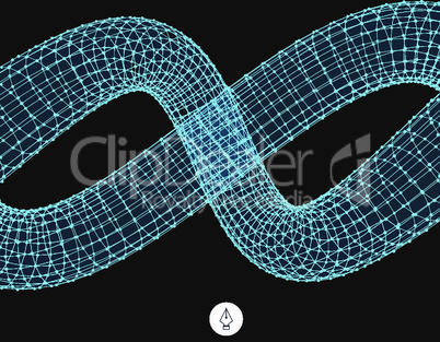 Spiral. 3d vector illustration. Сan be used as design element.