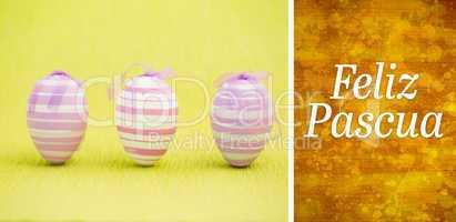 Composite image of feliz pascua