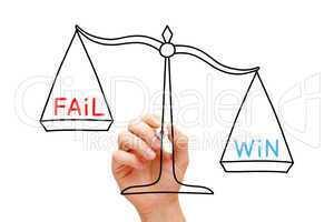 Win Fail Scale Concept