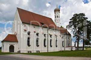 The church St Colomann in Bavaria