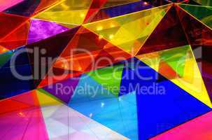 Farben eines Dach mit Glasmosaik aus Dreiecken