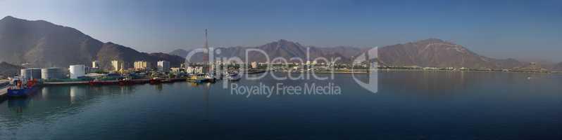 Vereinigte Arabische Emirate Khassab Landschaftspanorama