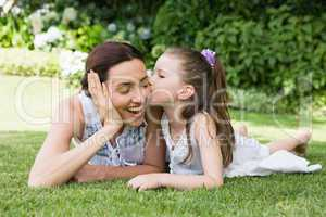 Mother and daughter spending time