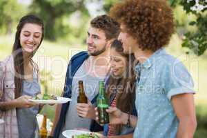Hipsters have lunch and beers