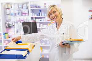 Pharmacist files documents