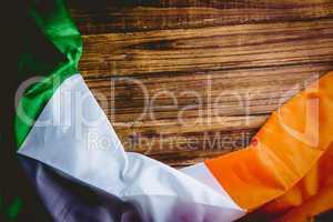 Ireland flag on wooden table