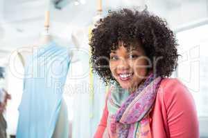 Confident female fashion designer