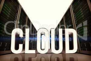 Composite image of cloud