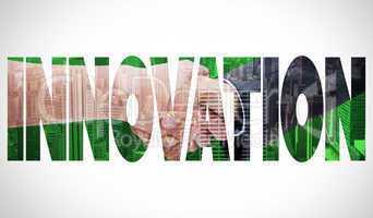 Innovation  against city skyline