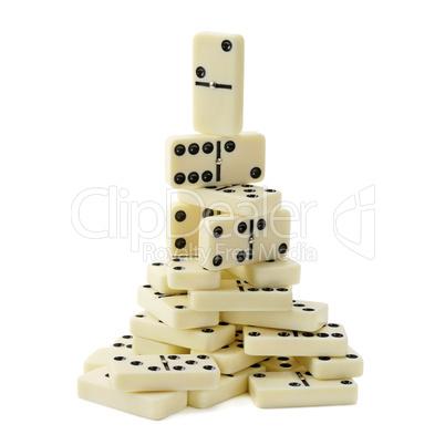 pyramid of dominoes