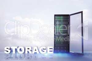Composite image of storage