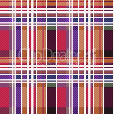 Rectangular tartan seamless texture mainly in warm hues