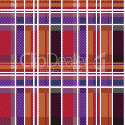 Rectangular tartan seamless texture mainly in warm colors