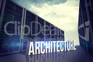Composite image of architecture