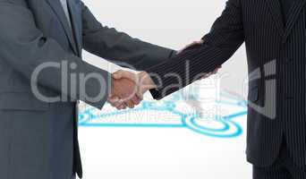 Composite image of handshake in agreement