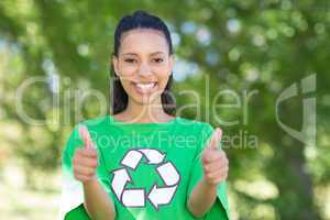Happy environmental activist in the park