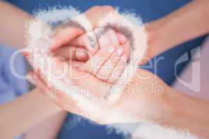 Composite image of cloud heart