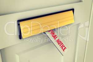 Final notice against letter through post box
